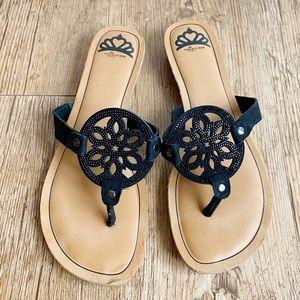 Fergalicious By Fergie Tamra Slip On Black Sandals